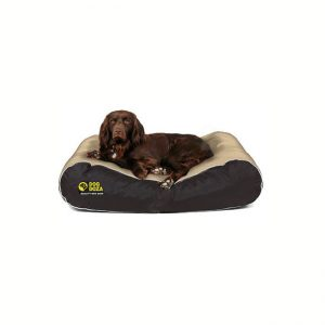 Dog Doza Active Style Waterproof Box Border Bed high loft fibre filled