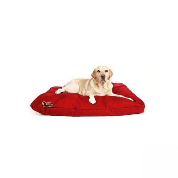 Dog Doza Waterproof Cushion Beds Red