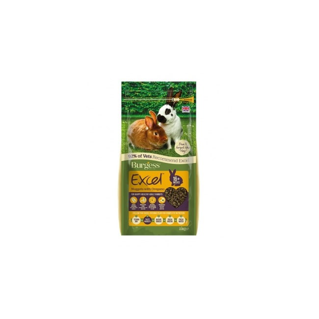 Burgess Excel Adult Rabbit Nuggets with Oregano (2kg)