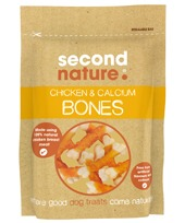 SECOND NATURE CHICKEN & CALCIUM BONES 100G