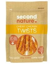 SECOND NATURE CHEWY CHICKEN TWISTS 85G