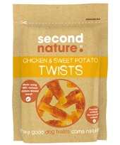 SECOND NATURE CHICKEN & SWEET POTATO TWISTS 100G