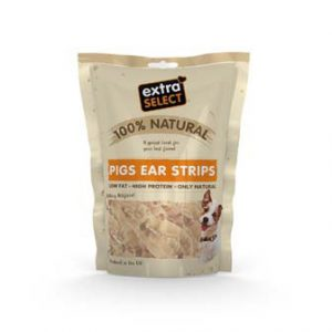 EXTRA SELECT 100% NATURAL PIGS EARS STRIPS 100G