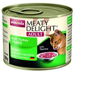 Animonda Adult Cat Meaty Delight Tin Beef, Turkey & Rabbit ( 6 x 200g)