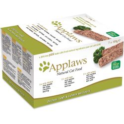 Applaws Cat Pate Chicken / Lamb / Salmon 7pk, 100G
