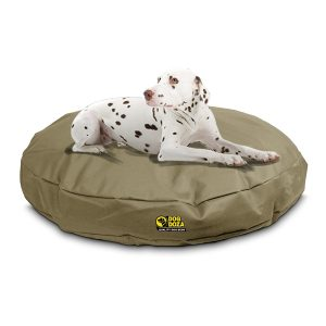 WATERPROOF MEMORY FOAM CRUMB ROUND DOG BEDS