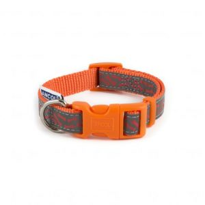 Ancol Reflective Paw & Bone Collar & Lead