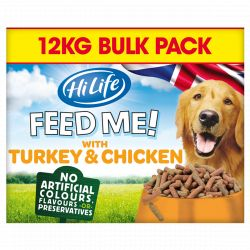 HiLife Feed Me with Turkey & Chicken flavoured with Bacon & Vegetables 12kg
