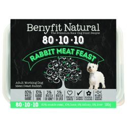 Benyfit Natural 80.10.10 Rabbit Meat Feast, 500G