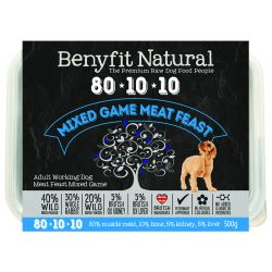 Benyfit Natural 80.10.10 Mixed Game Meat Feast, 500G