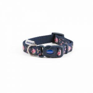 Fashion Collar Navy Rose & Lead