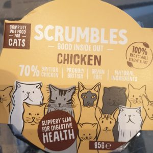 SCRUMBLES WET CAT FOOD 85G