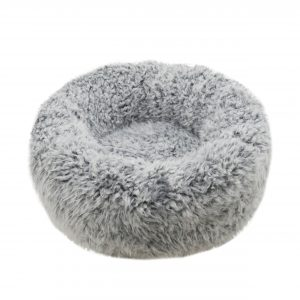 Silver Fluff Comfort Round Bed